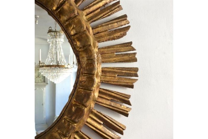 Vintage Gilt Sunburst Mirror