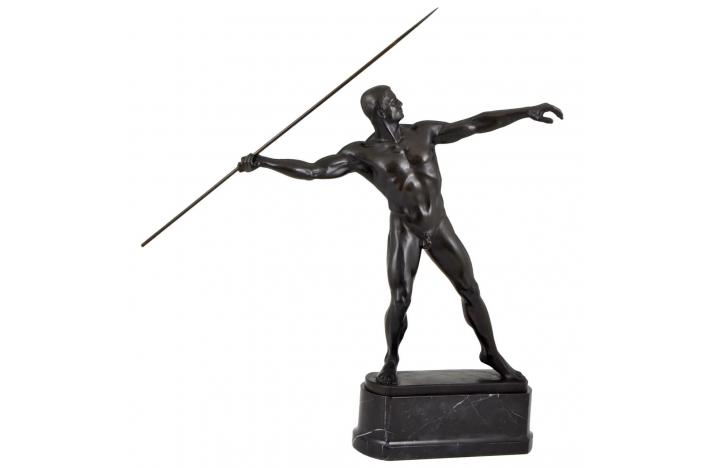 Bronze male nude H. 88 cm.