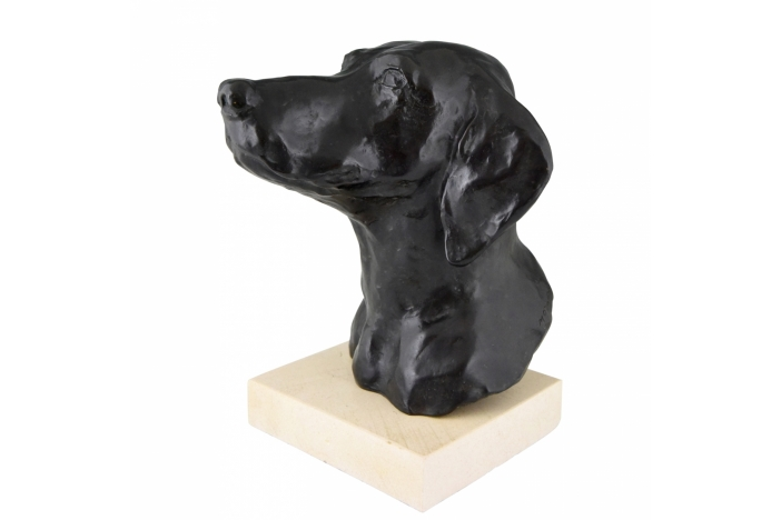 Art Deco bronze dog