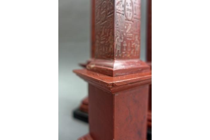 Red Marble Obelisks, 19th C