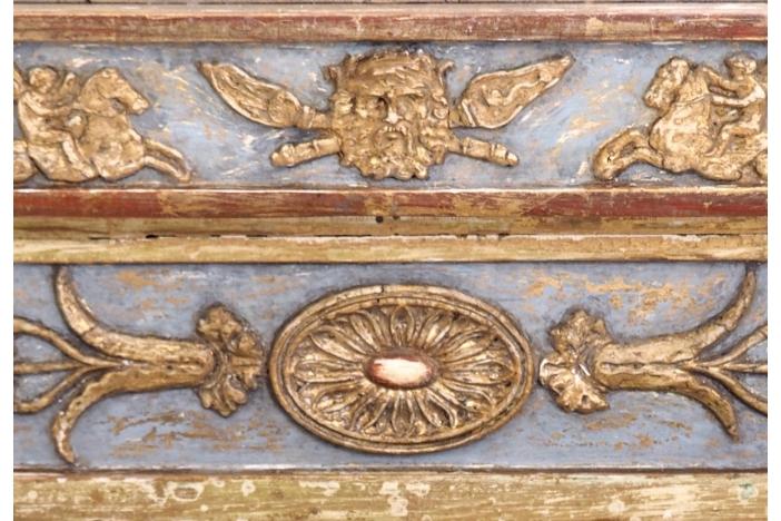 Carved mirror, circa 1790