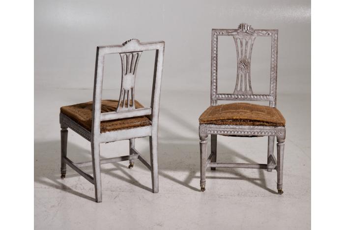 Gustavian chairs, 20th C.