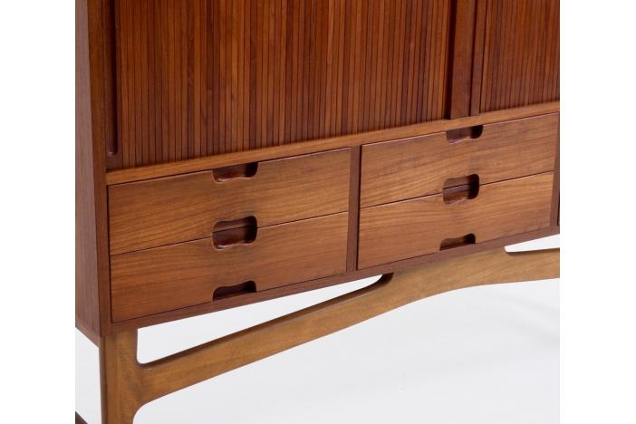 Roll-front sideboard, 1960's