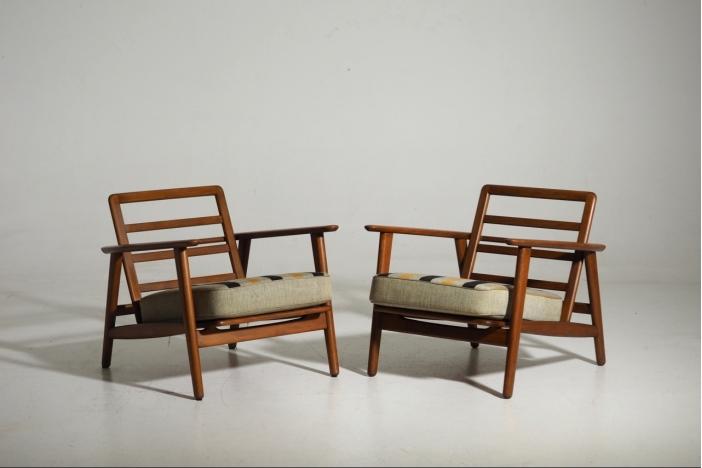 H. J. Wegner armchairs, 1960