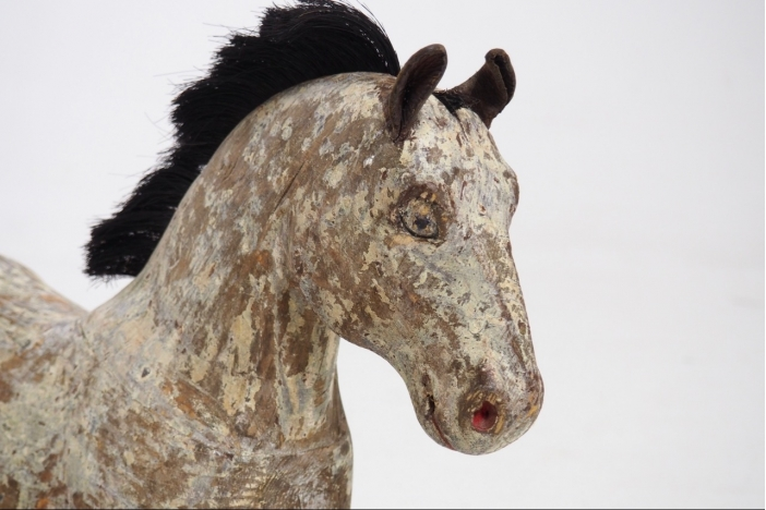 Swedish carved horse, 18th C.