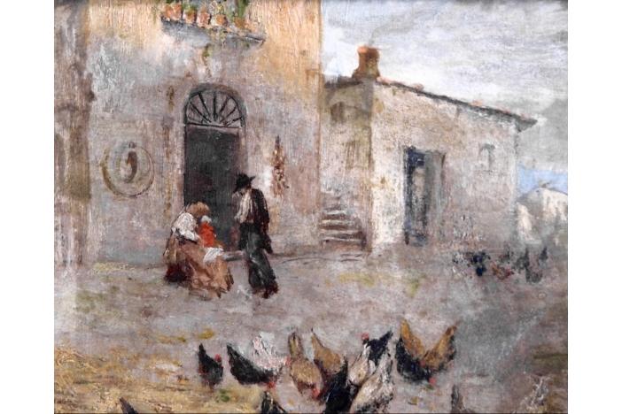Fine Italian painting, 19th C.