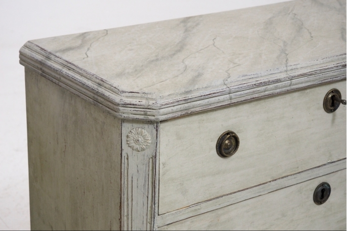 Gustavian chests, 19th C.