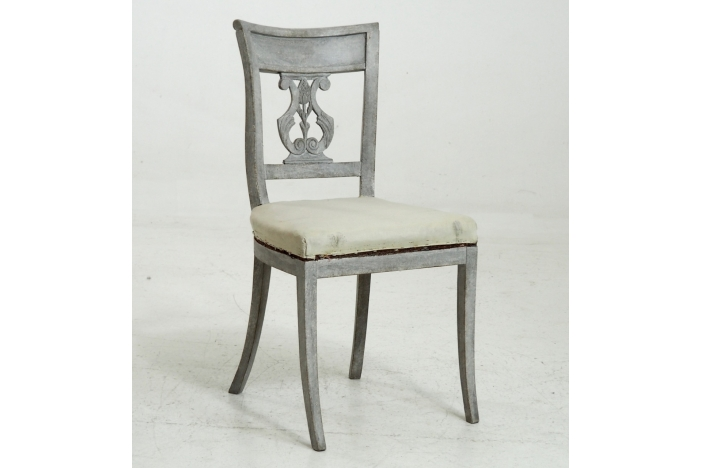 6 dinning room chairs, 1820.