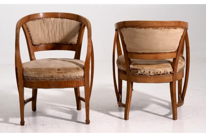 Art Nouveau armchairs
