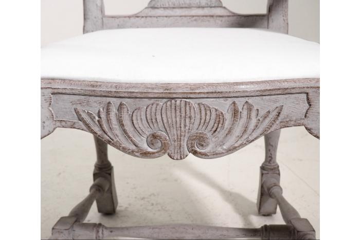 Swedish Rococo style chairs.