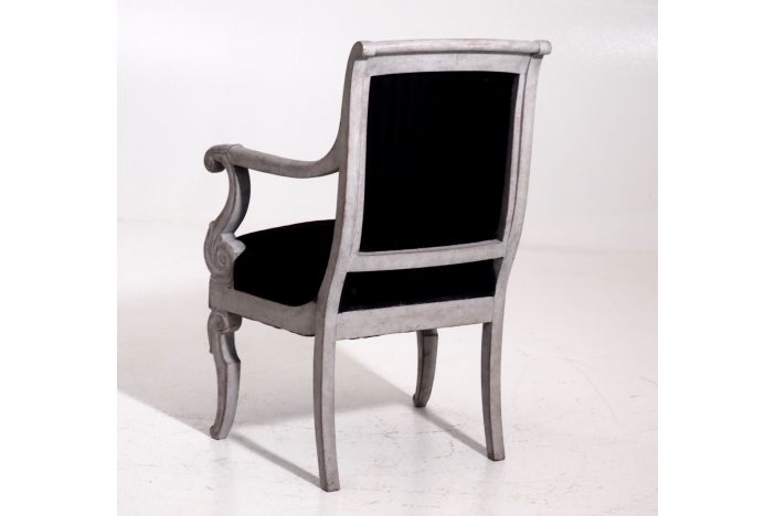 10 French armchairs, 19th C.