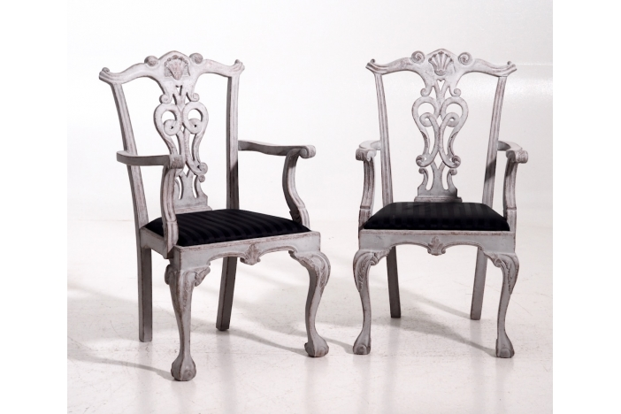 Eight large chairs, 20th C.