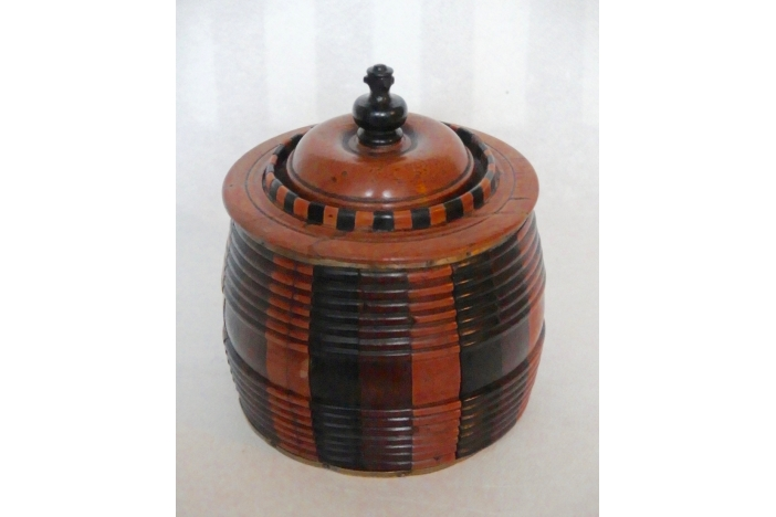 Three Treen Tobacco Jars