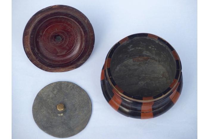 Three Treen Tobacco Jars