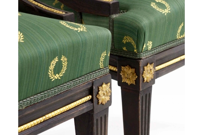 Pair of painted armchairs.