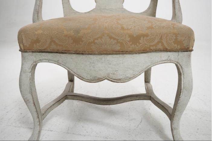 Scandinavian armchair, 19th C.