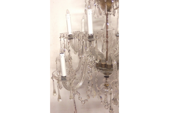 Spanish Cut Glass Chandelier