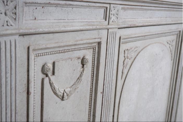 Gustavian style cabinet.
