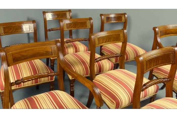 Regency Set Of 8 Dining Chairs