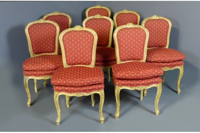 8 Dining Chairs Louis XV style