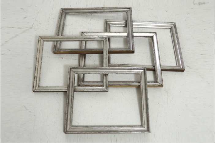 Five sliver plated frame.