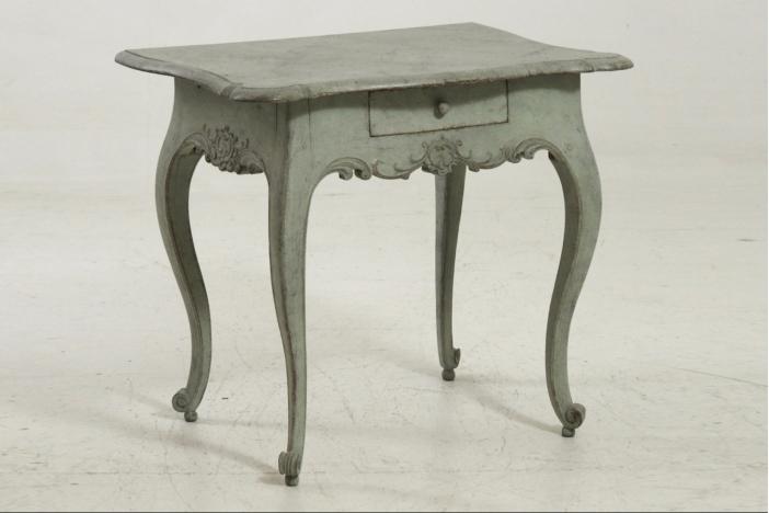 Rococo table, circa 1750.