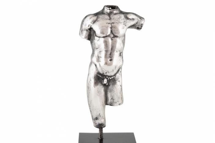 Silver male torso