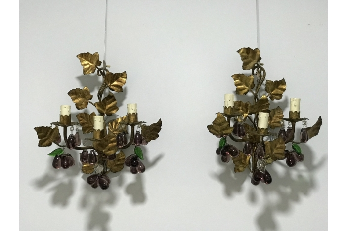 Pair of Italian Wall Lights