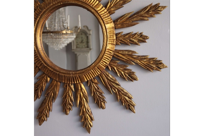 Large Spanish Sunburst Mirror