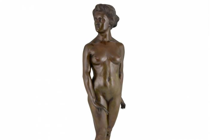 Art Deco nude bronze