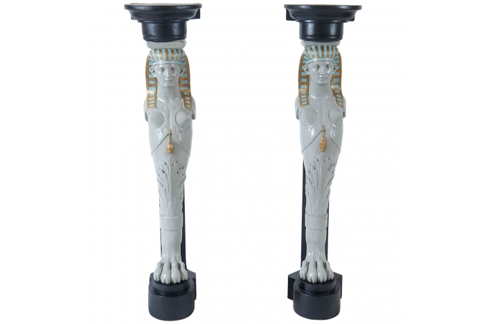 Egyptian Revival Pedestals