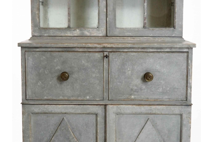 Gustavian two-parts secretary