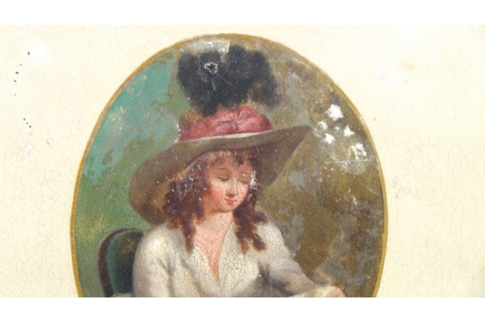 Painted metal tray, 1790.