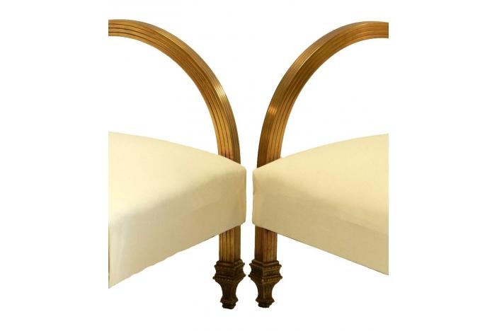 Rare Pair Art Deco Armchairs