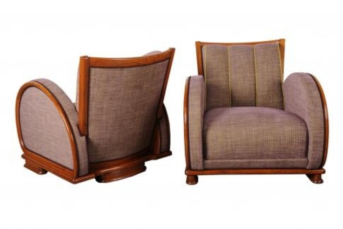 A pair of art deco armchair