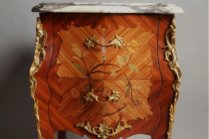 Pair of bedside commodes