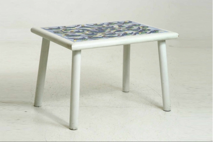 Rare Danish tile-top table.