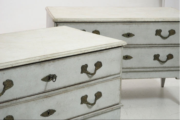 Gustavian chests, circa 1790