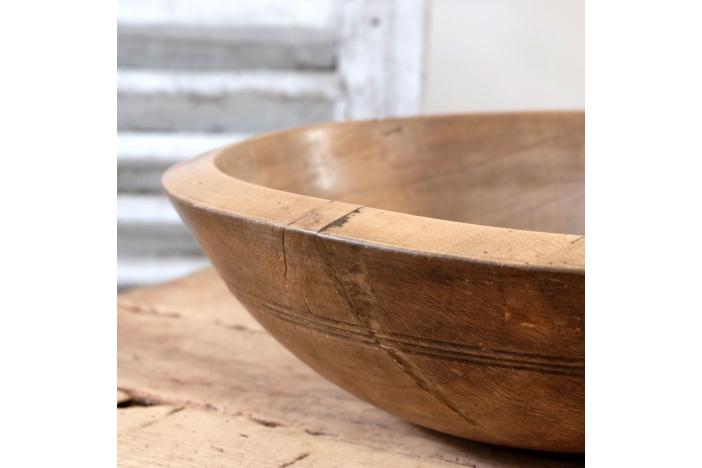 Antique Sycamore Dairy Bowl