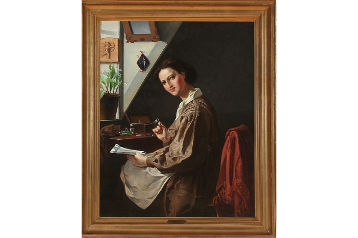 Interior with a young girl