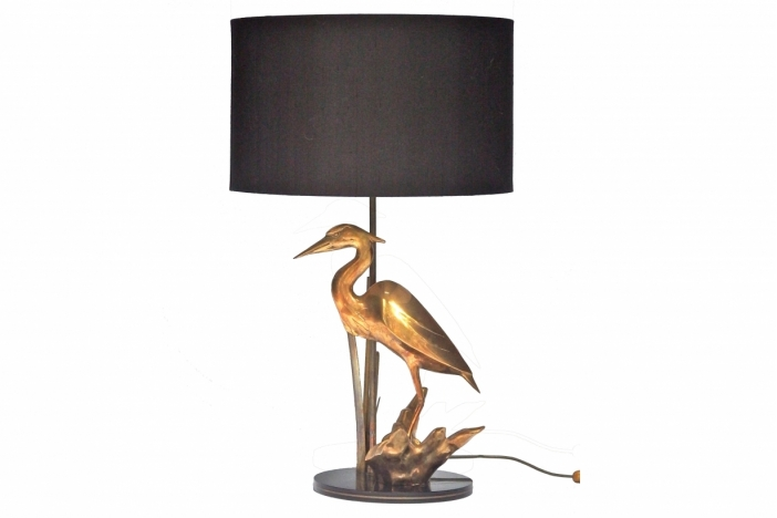 Brass Heron Table Lamp