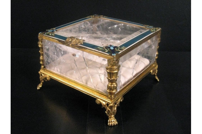 Rock Crystal Jewellery Box