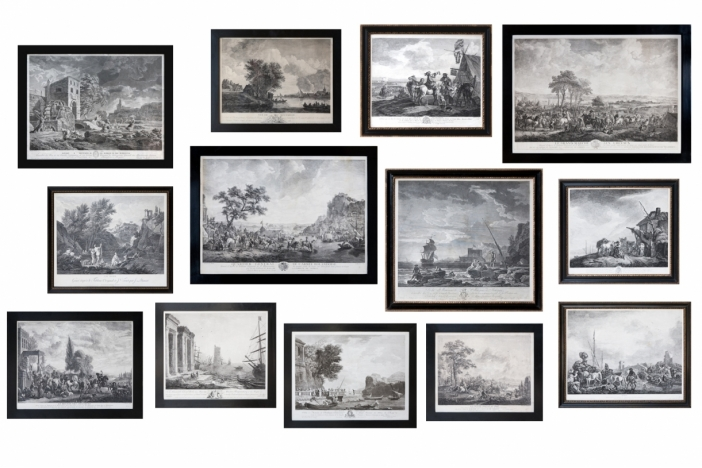 Set Of 13 Framed Engravings