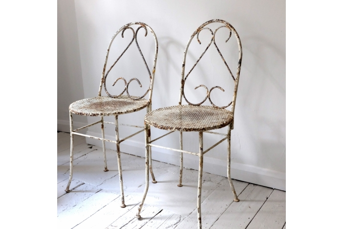 Pair of Antique Garden Chairs