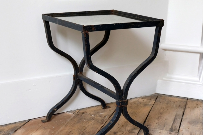 Petite Cast Iron Side Table