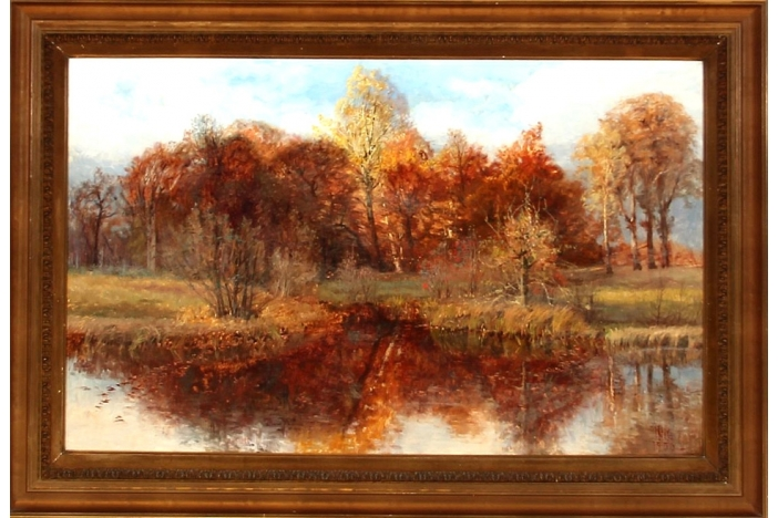 """Forest lake, autumn time"""