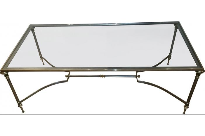 A steel brass coffee table
