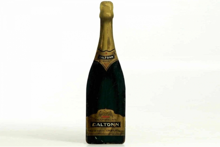 A big champagne bottle