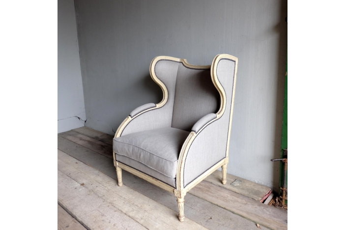 Shapely Antique Wing Chair