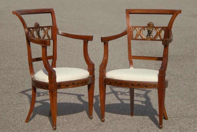 Pair Italian Armchairs